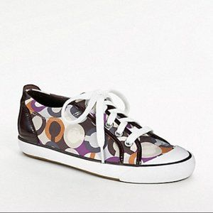 Rare Coach Barret Sneakers Brown Purple Size 6.5